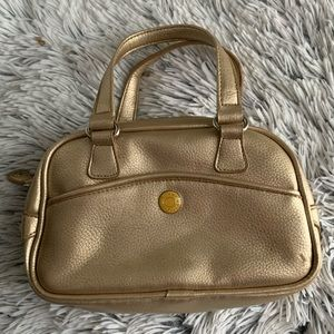 Tommy Hilfiger gold boxed carryall satchel…